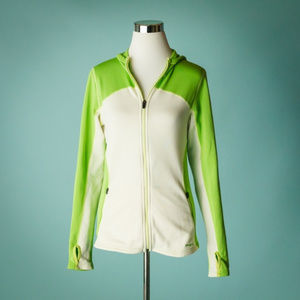 Patagonia Small Green White Full Zip Hoodie Jacket